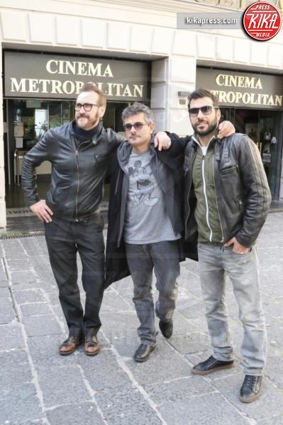 Marco Giallini, Paolo Genovese, Edoardo Leo - Napoli - 17-02-2016 - 60° David: Perfetti Sconosciuti è il miglior film