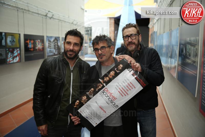 Marco Giallini, Paolo Genovese, Edoardo Leo - Palermo - 18-02-2016 - 60° David: Perfetti Sconosciuti è il miglior film