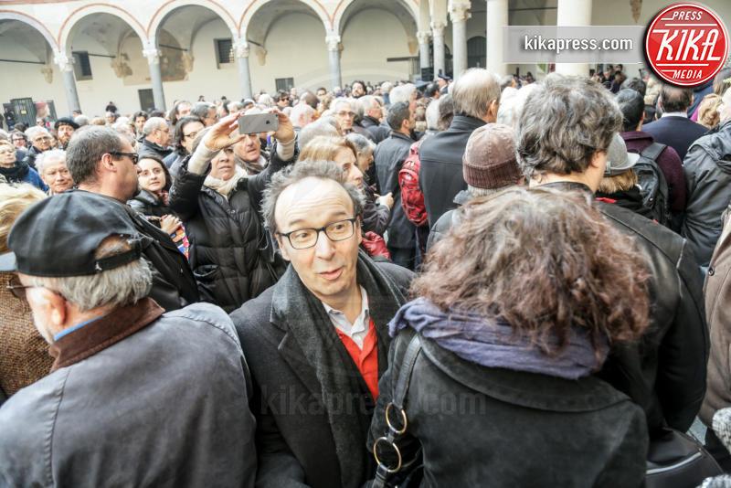 Nicoletta Braschi, Roberto Benigni - 23-02-2016 - Addio Maestro: l'ultimo commosso saluto a Umberto Eco