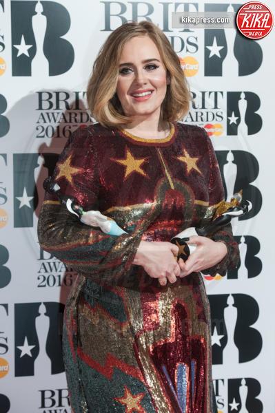 Adele - Londra - 24-02-2016 - Brit Awards 2016, trionfo assoluto di Adele