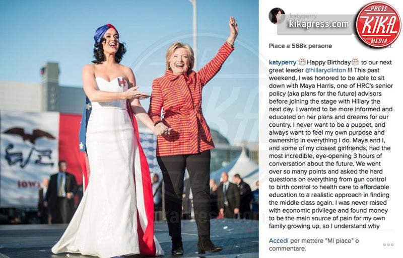 Hillary Clinton, Katy Perry - 26-02-2016 - Star come noi: l'impegno politico delle star