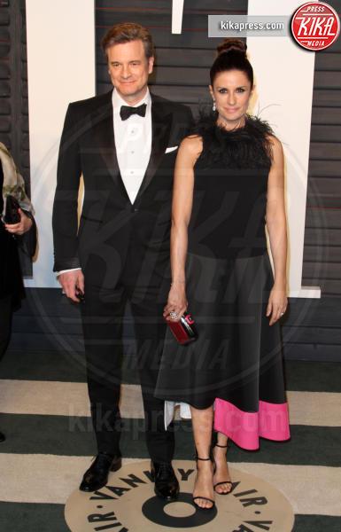 Livia Giuggiol, Colin Firth - Los Angeles - 28-02-2016 - Oscar 2016: il tradizionale party Vanity Fair