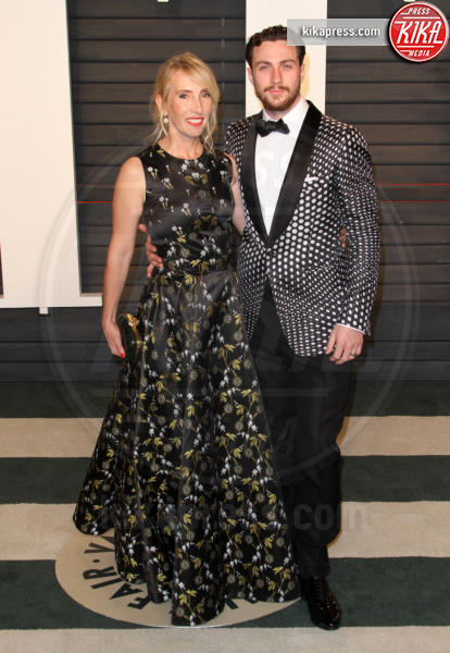 Sam Taylor-Johnson, Aaron Taylor-Johnson - Los Angeles - 28-02-2016 - Oscar 2016: il tradizionale party Vanity Fair