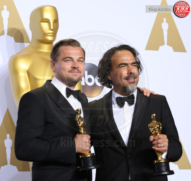 Alejandro Gonzalez Inarritu, Leonardo DiCaprio - Los Angeles - 28-02-2016 - Leonardo DiCaprio, raccolta fondi per Hillary Clinton