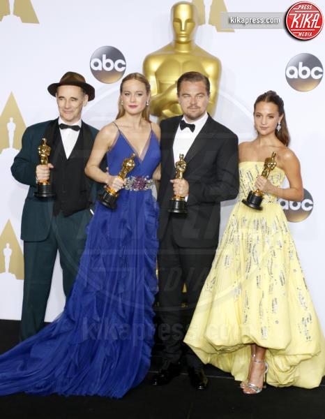 Leonardo DiCapri, Alicia Vikander, Mark Rylance, Brie Larson - Los Angeles - 28-02-2016 - Brie Larson debutta alla regia con Unicorn Store