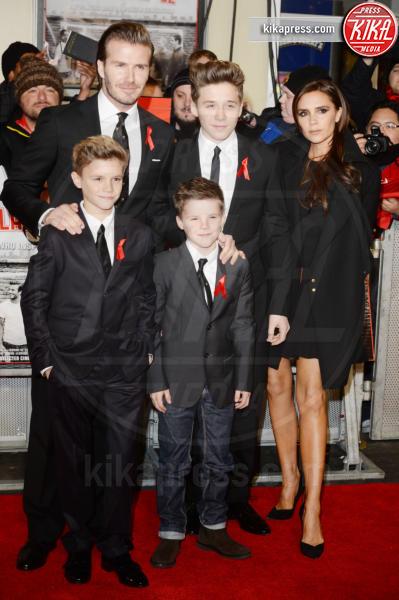 Cruz Beckham, Romeo Beckham, Brooklyn Beckham, David Beckham, Victoria Beckham - Londra - 01-12-2013 - Victoria Beckham: