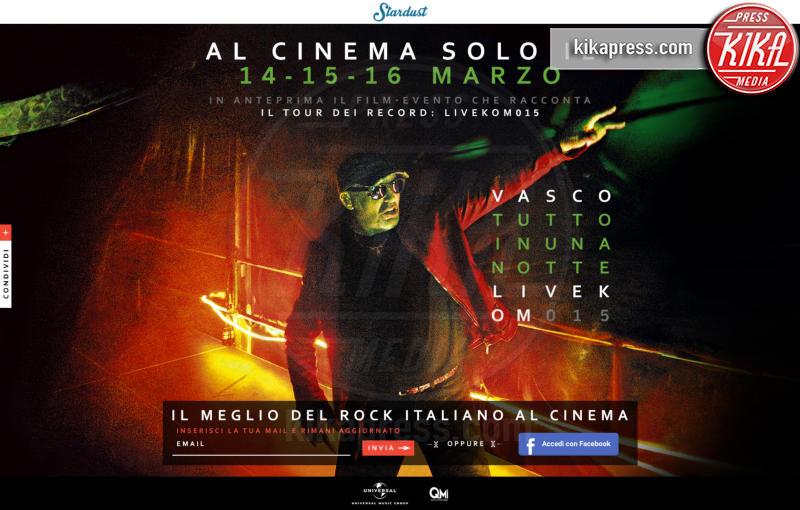 Vasco Rossi - Milano - 04-03-2016 - Vasco tutto in una notte, LiveKom015 arriva al cinema