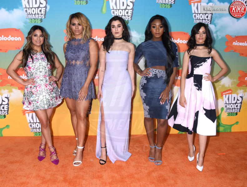 Dinah-Jane Hansen, Camila Cabello, Ally Brooke, Lauren Jauregui, Normani Hamilton, Fifth Harmony - Inglewood - 12-03-2016 - Heidi Klum splendida in Versace ai Kids' Choice Awards
