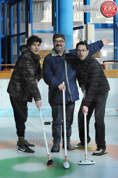 Cristiano Caccamo, Fausto Sciarappa, Francesco Pannofino - Cortina - 16-03-2016 - Cortinametraggio, quando il fuori programma si chiama curling