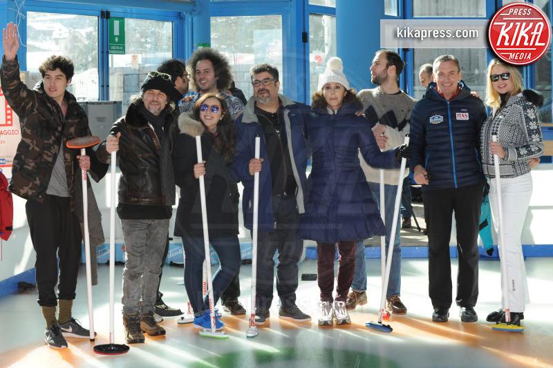 Cristiano Caccamo, Anna F, Fausto Sciarappa, Francesco Pannofino - Cortina - 16-03-2016 - Cortinametraggio, quando il fuori programma si chiama curling