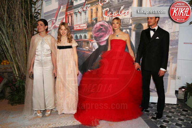 Alexandra di Hannover, Pierre Casiraghi, Charlotte Casiraghi, Beatrice Borromeo - Monaco - 19-03-2016 - La famiglia reale monegasca si riunisce al Bal de la Rose