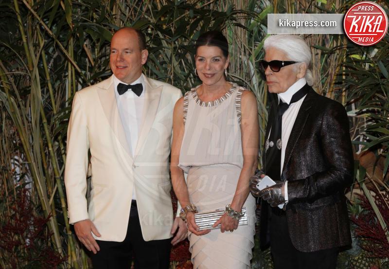 Principe Alberto di Monaco, Principessa Carolina di Monaco, Karl Lagerfeld - Monaco - 19-03-2016 - La famiglia reale monegasca si riunisce al Bal de la Rose