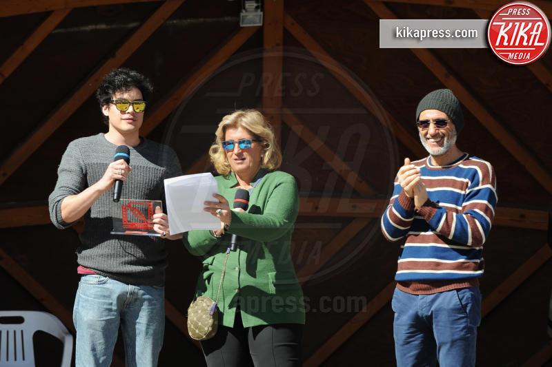 Cristiano Caccamo, Marcello Foti, Maddalena Mayneri - Cortina d'Ampezzo - 19-03-2016 - Cortinametraggio chiude, ecco tutti i vincitori
