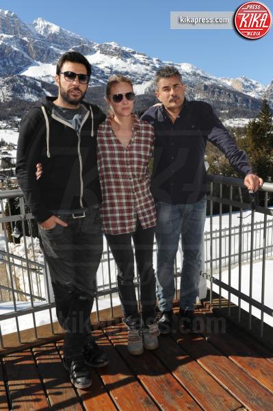 Antonia Liskova, Paolo Genovese, Edoardo Leo - Cortina d'Ampezzo - 19-03-2016 - Finito Cortinametraggio, gli attori si godono le Dolomiti