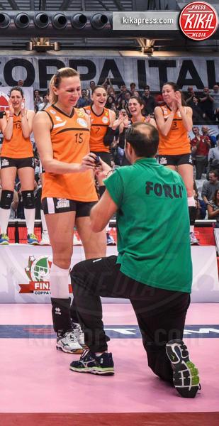 Angelo Vercesi, Vera Klimovich, Coppa Italia Volley, Coppa Italia - Ravenna - 20-03-2016 - Vince la Coppa Italia e... una promessa di matrimonio!