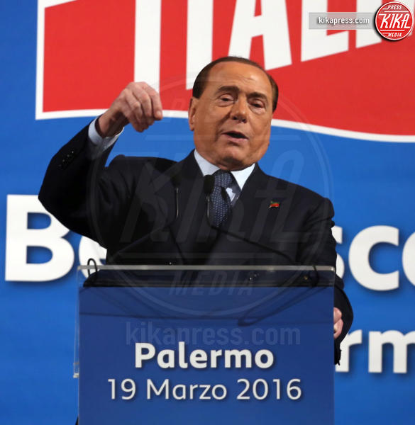 Silvio Berlusconi - Palermo - 19-03-2016 - Paura per Berlusconi, caduto a Portofino: dimesso dopo la sutura
