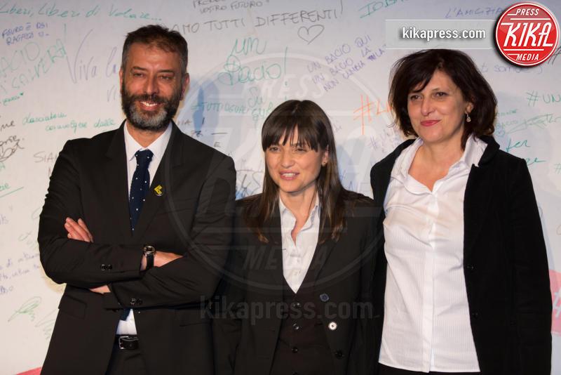Debora Serracchiani, Francesca Cima, Ivan Cotroneo - Roma - 23-03-2016 - I vip di spettacolo e politica alla prima di Un Bacio