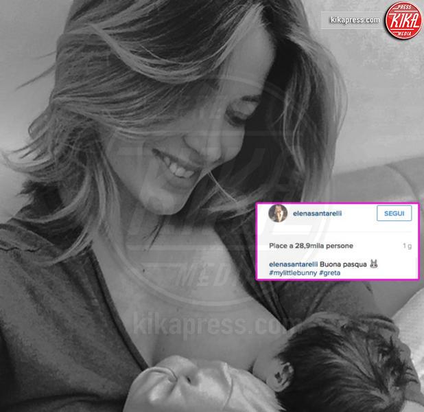 Greta Corradi, Elena Santarelli - Roma - 29-03-2016 - Megan Gale & C, quelle che allattano sui social