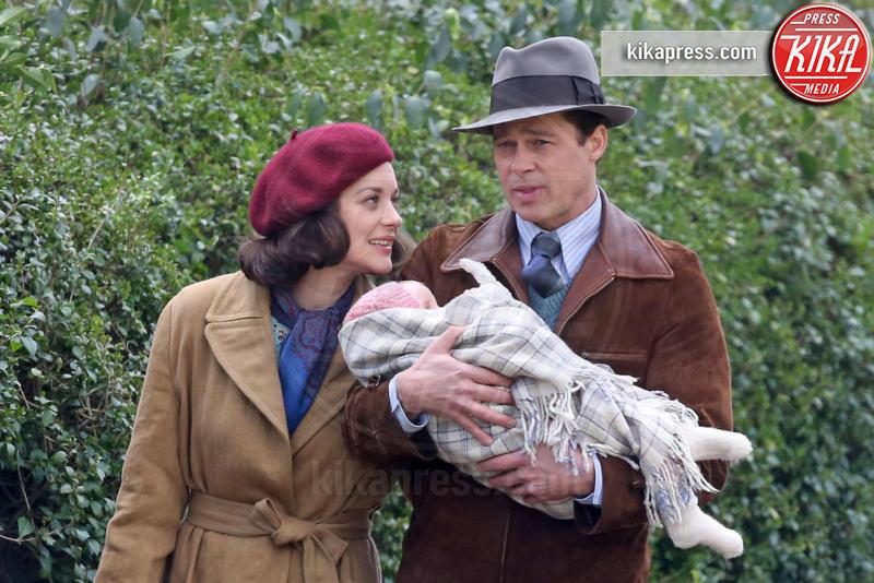 Marion Cotillard, Brad Pitt - Londra - 31-03-2016 - C'è chimica tra Brad Pitt e Marion Cotillard sul set di Allied
