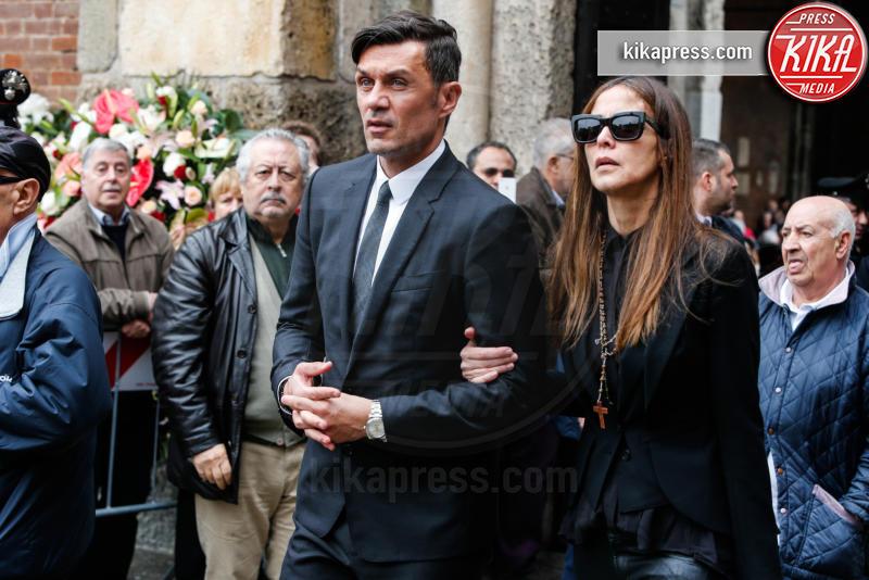 Funerale Cesare Maldini, Adriana Fossa, Paolo Maldini - Milano - 05-04-2016 - Adriana Fossa e Paolo Maldini, un amore che dura da 28 anni