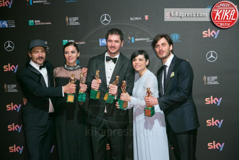 Ilenia Pastorelli, Antonia Truppo, Gabriele Mainetti, Claudio Santamaria - Roma - 19-04-2016 - 60° David di Donatello: ecco tutti i vincitori