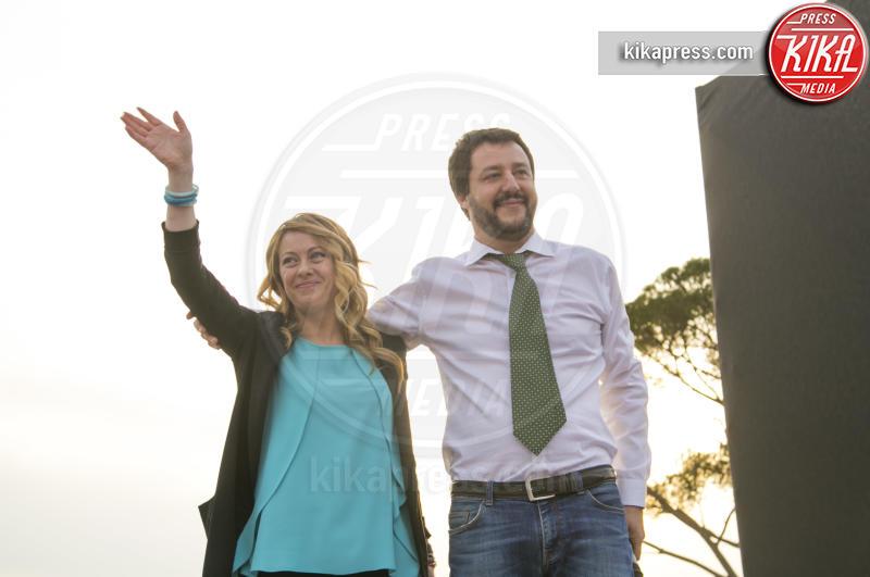 Giorgia Meloni, Matteo Salvini - Roma - 21-04-2016 - Andrea Giambruno sarà il primo