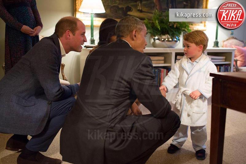 Principe George, Principe William, Kate Middleton, Michelle Obama, Barack Obama - Londra - 23-04-2016 - Principino George: le sette foto che lo hanno resto una star