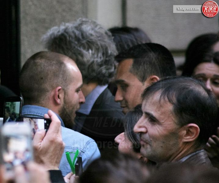 Gianluca Corrado, Luigi Di Maio - Milano - 22-04-2016 - Elezioni Milano, Di Maio lancia la volata a Gianluca Corrado