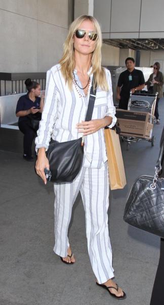 Heidi Klum - Los Angeles - 01-10-2015 - Vic Beckham, la più chic in aeroporto secondo British Airways