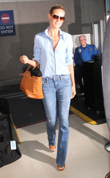 Heidi Klum - Los Angeles - 15-08-2014 - Vic Beckham, la più chic in aeroporto secondo British Airways