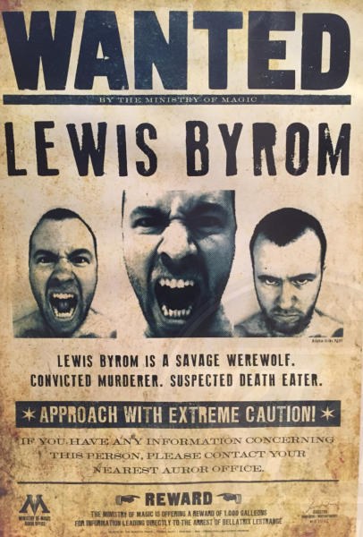 Lewis Byrom, Cassie Byrom - Londra - 01-11-2015 - Sposi nel magico mondo di Harry Potter
