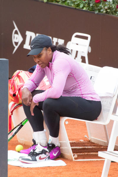 Serena Williams - Roma - 05-05-2016 - Serena Williams al primo allenamento romano