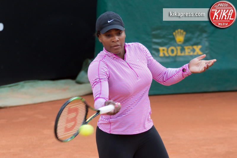 Serena Williams - Roma - 05-05-2016 - Serena Williams al primo allenamento romano