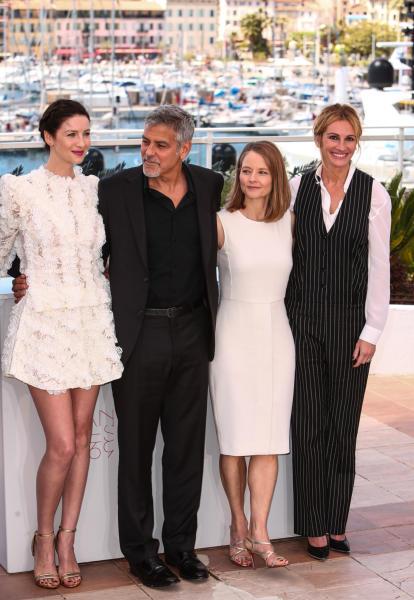 Caitriona Balfe, Jodie Foster, George Clooney, Julia Roberts - Cannes - 12-05-2016 - Cannes 2016: la seconda giornata della kermesse