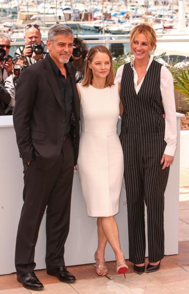 Jodie Foster, George Clooney, Julia Roberts - Cannes - 12-05-2016 - Cannes 2016: la seconda giornata della kermesse