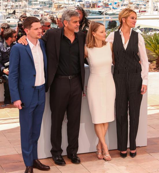 Jack O'Connell, Jodie Foster, George Clooney, Julia Roberts - Cannes - 12-05-2016 - Cannes 2016: la seconda giornata della kermesse