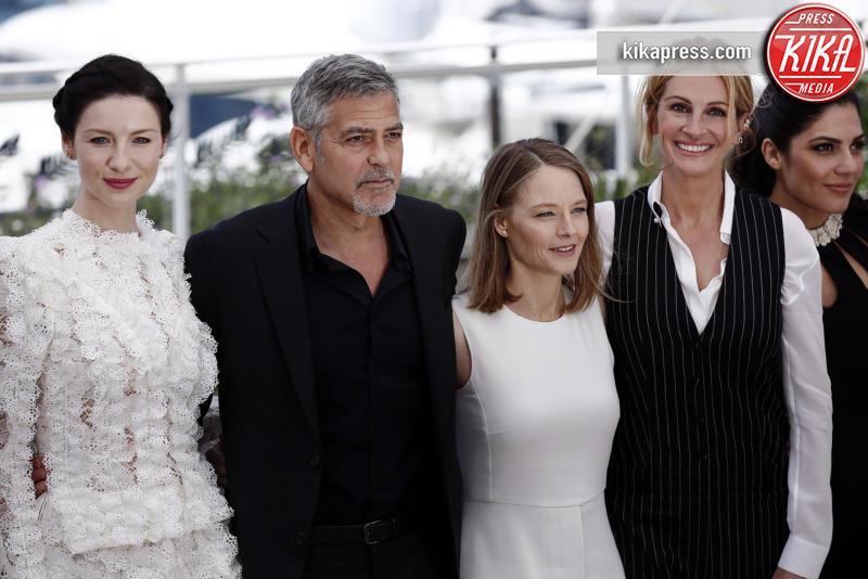 Caitriona Balfe, Jodie Foster, George Clooney, Julia Roberts - Cannes - 13-05-2016 - Cannes 2016 cala la coppia d'assi Clooney-Roberts