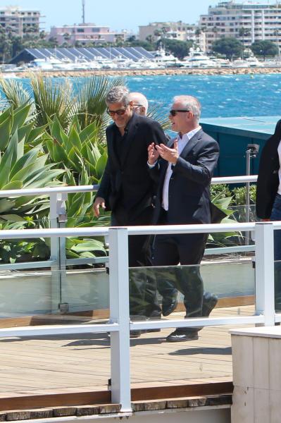 Thierry Fremaux, George Clooney - Cannes - 12-05-2016 - Cannes 2016: la seconda giornata della kermesse