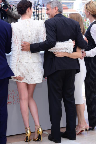 Caitriona Balfe, George Clooney - Cannes - 12-05-2016 - Cannes 2016: la seconda giornata della kermesse
