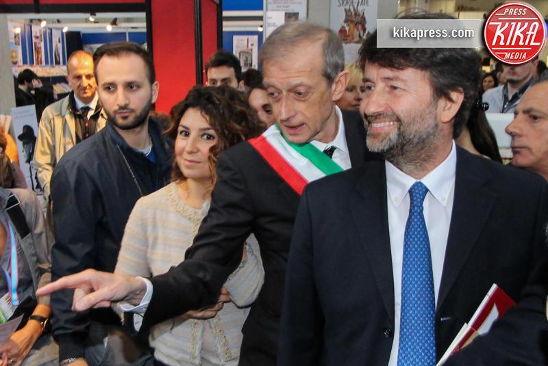 Salone del libro, Dario Franceschini, Piero Fassino - Torino - 12-05-2016 - Torino, successo per il Salone del Libro
