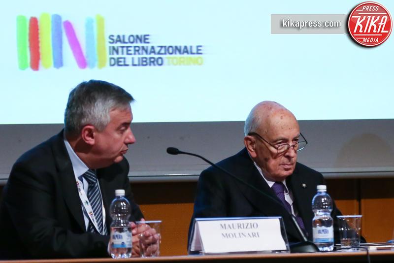 Maurizio Molinari, Giorgio Napolitano - Torino - 12-05-2016 - Torino, successo per il Salone del Libro