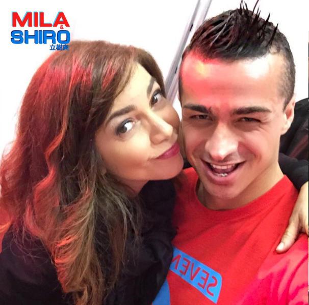 Paolo Tuci, Cristina D'Avena - Milano - 14-05-2016 - Paolo Tuci realizza una versione al maschile di Mila e Shiro