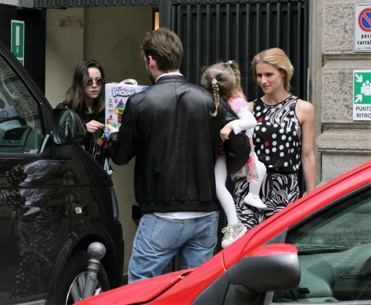 Celeste Trussardi, Sole Trussardi, Tomaso Trussardi, Aurora Ramazzotti, Michelle Hunziker - Milano - 14-05-2016 - Fenomeno Aurora Ramazzotti, ecco il debutto da modella