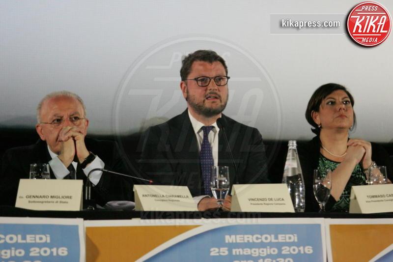 Antonella Ciaramella, Vincenzo De Luca, Gennaro Migliore - Casoria - 25-05-2016 - De Luca-Migliore, il Patto per il Sud arriva a Casoria