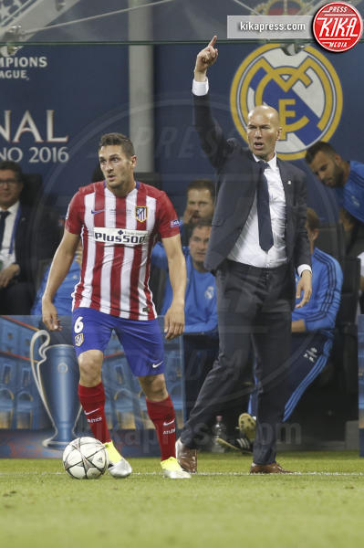 Zinédine Zidane, Koke - Milano - 25-05-2016 - Il Real Madrid vince la sua Undècima Champions League