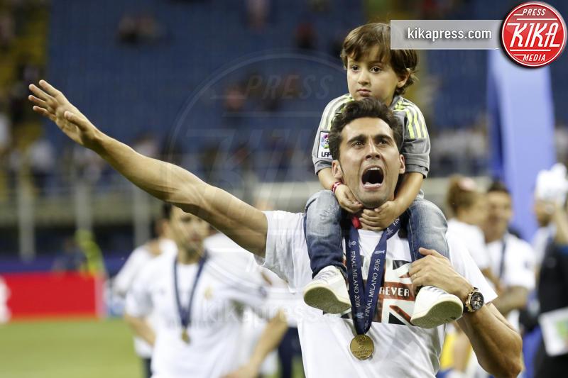 Álvaro Arbeloa mit Sohn - Milano - 25-05-2016 - Il Real Madrid vince la sua Undècima Champions League