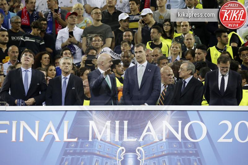 Florentino Pérez, Ángel Maria Villar, Gianni Infantino, Re Felipe di Borbone, Mariano Rajoy - Milano - 25-05-2016 - Il Real Madrid vince la sua Undècima Champions League