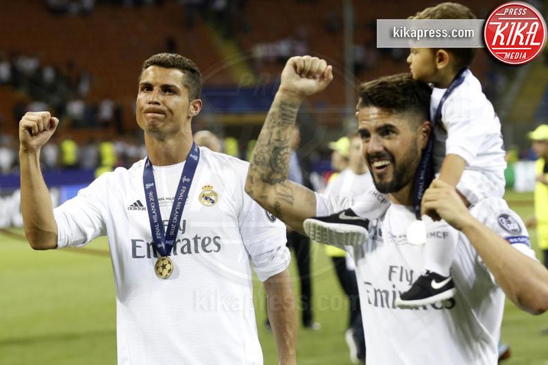 Isco mit Sohn, Cristiano Ronaldo - Milano - 25-05-2016 - Il Real Madrid vince la sua Undècima Champions League