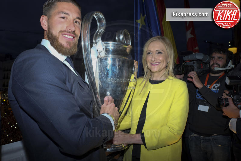Cristina Cifuentes, Sergio Ramos - Milano - 25-05-2016 - Il Real Madrid vince la sua Undècima Champions League