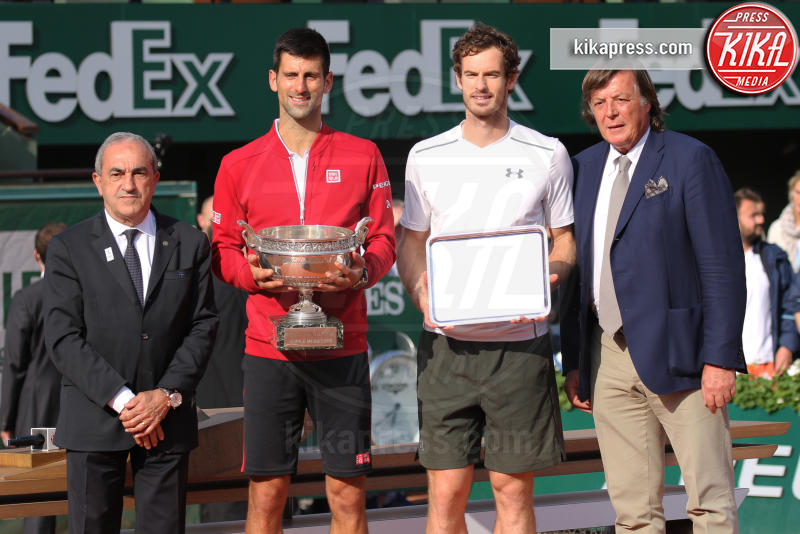 Adriano Panatta, Andy Murray, Novak Djokovic - Parigi - 05-06-2016 - Novak Djokovic è il re di Parigi al Roland Garros